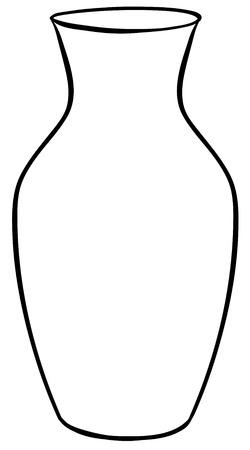 Closeup plain design of flower vase