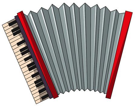 an accordion: Cierre de acorde�n rojo llano