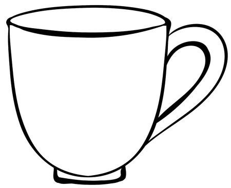 コーヒーカップ: クローズ アップ コーヒー カップの明白なデザイン