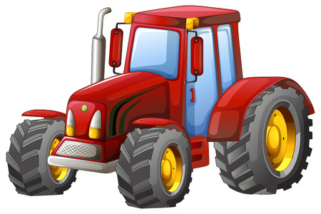 Close up plain red tractor Stok Fotoğraf - 39769195