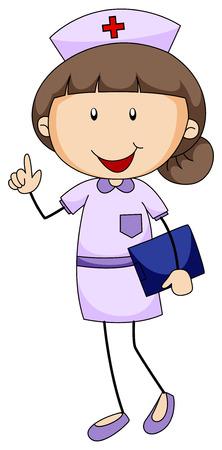 Closeup weibliche Krankenschwester in Uniform hält Ordner Standard-Bild - 39769672