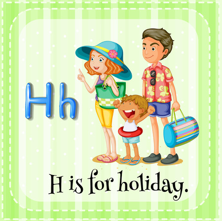 flashcard alphabet h is for holiday vector