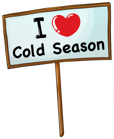 wooden frame: I love cold season in wooden frame