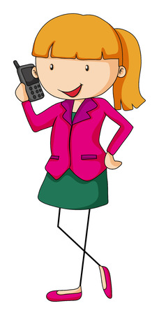 closeup: Closeup businesswoman talking on the mobile phone