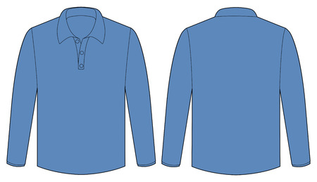 sleeves: Back and front view of long sleeves shirt Illustration