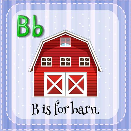 barnhouse: Flashcard letter B is for barn Illustration