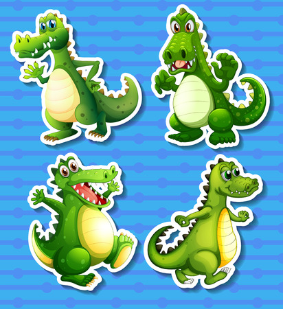 green dragon: Four green dragon in different positions
