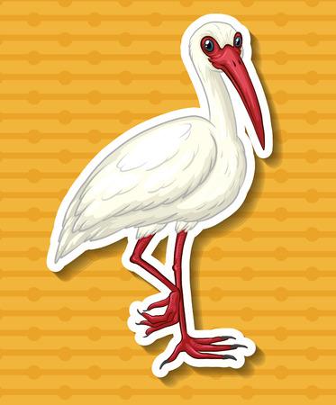 closeup: Nahaufnahme einzigen Kran auf einem Bein stehend Illustration