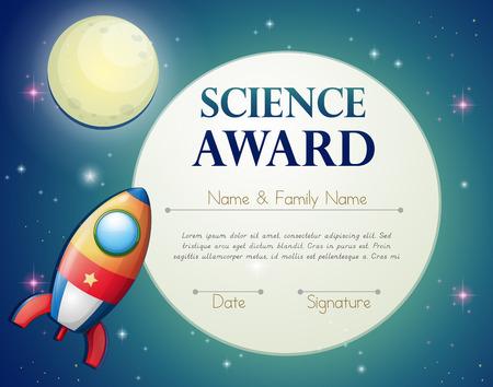 zertifizierung: Zertifizierung f�r Wissenschaftspreis mit Platz Hintergrund