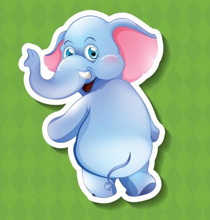 closeup: Closeup happy elephant turning the head