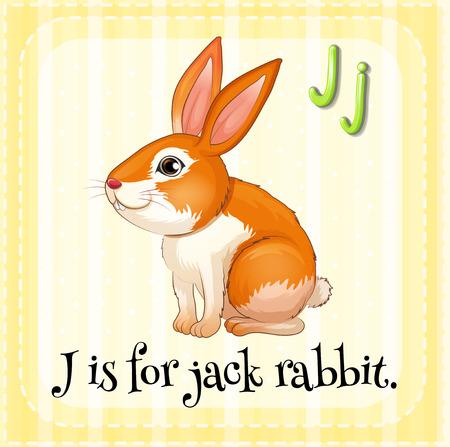 jack rabbit: Flashcard letter R is for rabbit