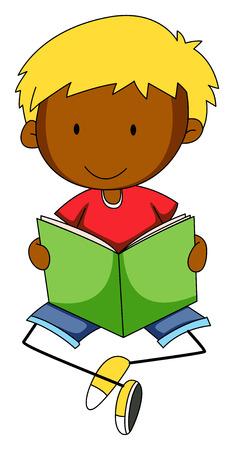 libro de cuentos: Libro de lectura del ni�o feliz Primer solos Vectores