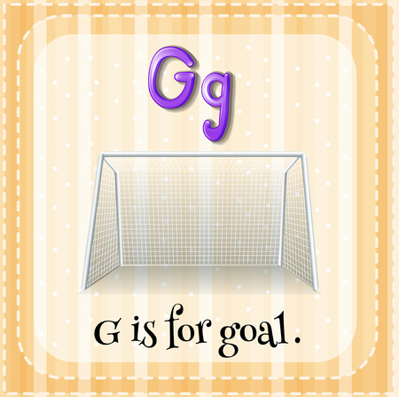 Flashcard letter G is for goal Vector