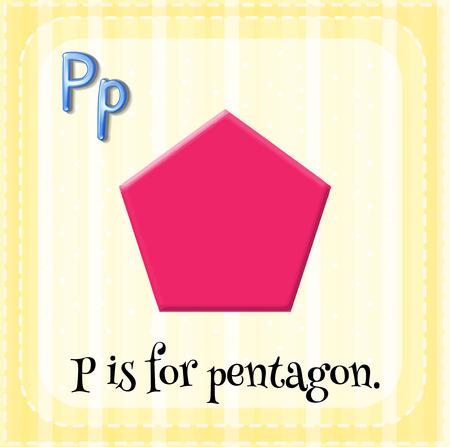 pentagon: Flashcard letter P is for pentagon