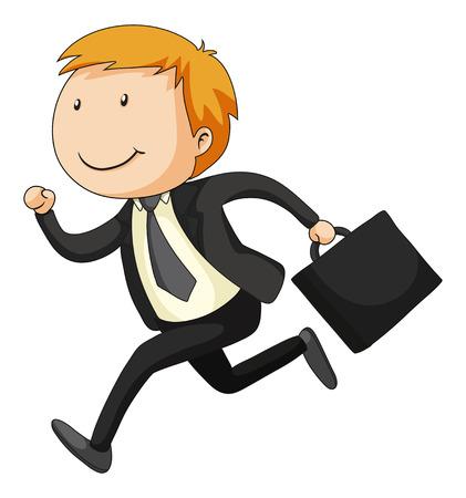 Closeup businessman carrying a briefcase Vector