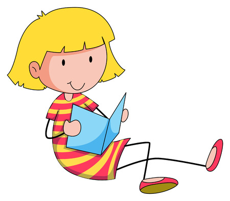 closeup: Nahaufnahme gl�cklich M�dchen mit einem Buch