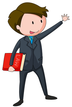 law book: Closeup lawyer carrying a law book