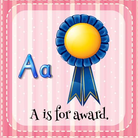 phonetic: Flashcard letter A is for award