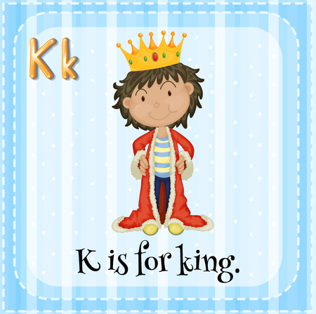 phonetic: Flashcard letter K is for king