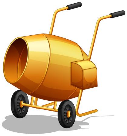 cement mixer: Closeup plain design of cement mixer
