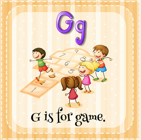 phonetic: Flashcard letter G is for game