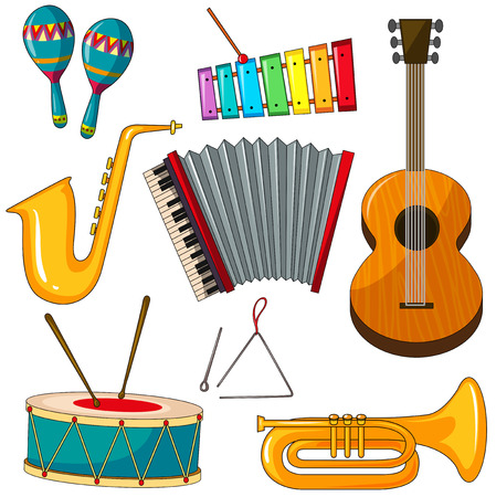 triangle musical instrument: Different kind of musical instruments Illustration
