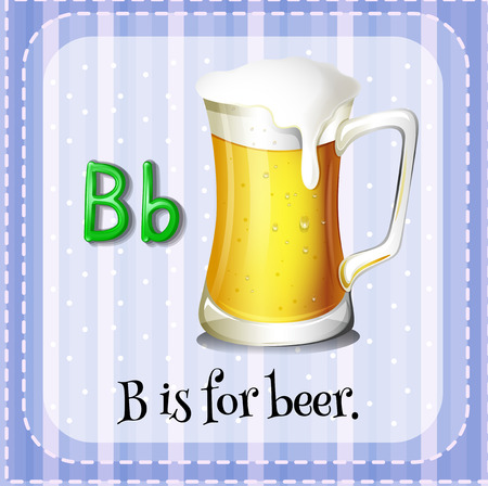 phonetic: Flashcard letter B is for beer