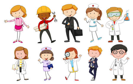 People in different kind of occupations Vector