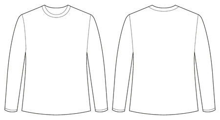 shirt sleeves: Front and back view of long sleeves shirt