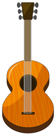 classical guitar: Classical guitar made of wood Illustration