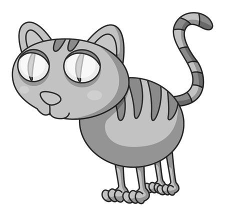 closeup: Closeup doodles kitten standing alone