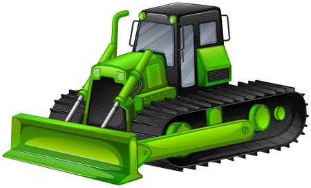 dig up: Close up bulldozer in modern design