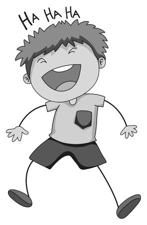 closeup: Closeup kleiner Junge allein lachen