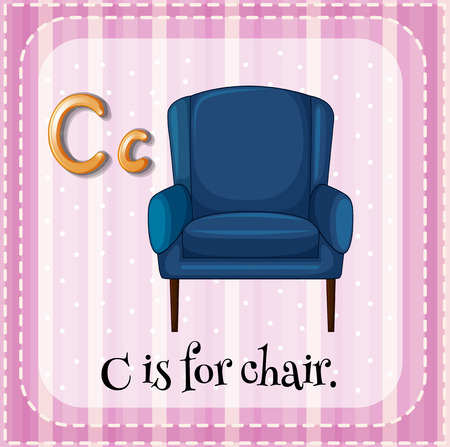 a chair: Flashcard letter C is for chair