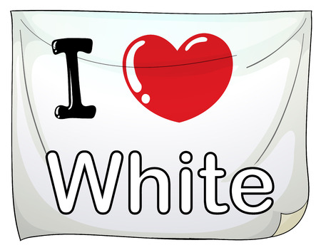 posting: I love white sign posting on the wall