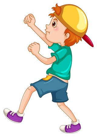 pelea: Niño pequeño que intenta luchar