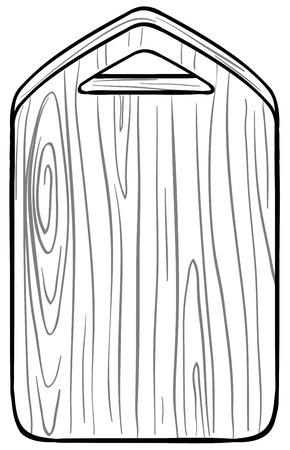 chopping board: Chopping board on a white background Illustration