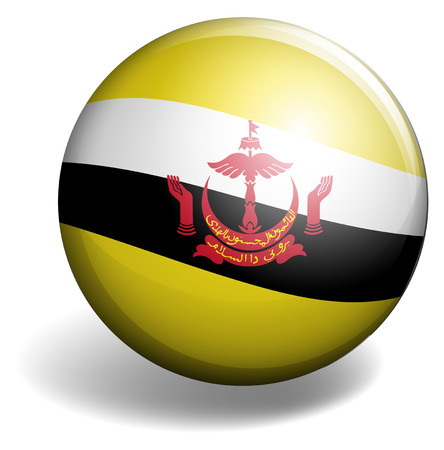 signal device: Brunei flag on round button