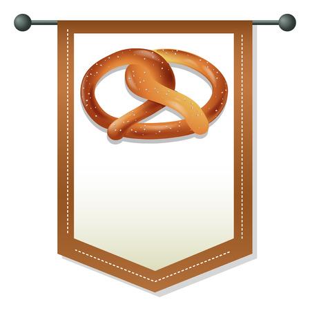 pretzel: Banner template with pretzel design Illustration