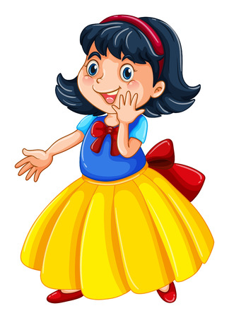 snow white: Cute girl doing some action in snow white theme costume