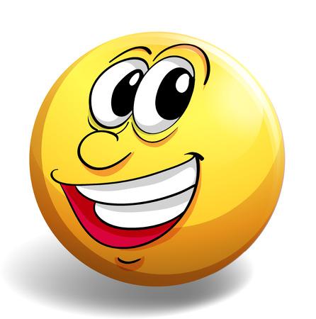 carita feliz: Cara feliz en la placa amarilla