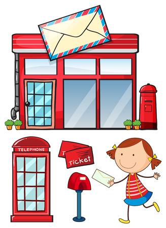 Post office an postal service set