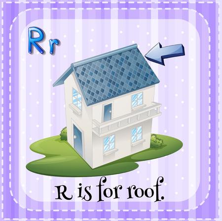 letter alphabet pictures: Alphabet R is for roof illustration Illustration
