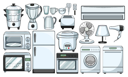 kitchen illustration: Electronic devices used in the kitchen illustration Illustration