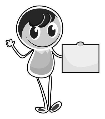 alone: Boy character standing alone illustration Illustration