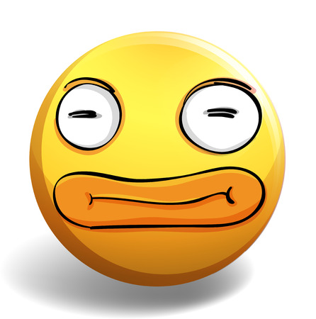 funny pictures: Funny face on yellow ball illustration