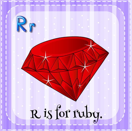 ruby: Alphabet R is for ruby illustration Illustration