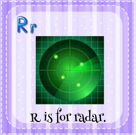 letter alphabet pictures: Alphabet R is for radar illustration Illustration