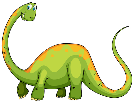 long neck: Dinosaur with long neck and tail illustration
