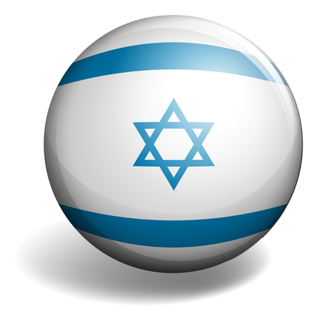 signal device: Isarel flag on round badge illustration